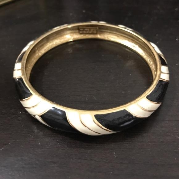 J. CREW black and white bangle